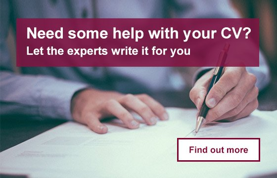 Need some help with your CV? Let the experts write it for you.